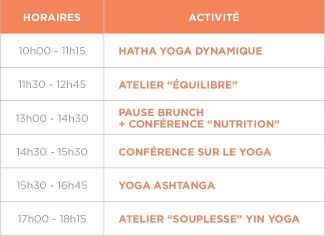 yoga brunch programme