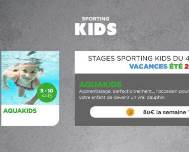 Aquakids - stage d'été - Sporting Form'
