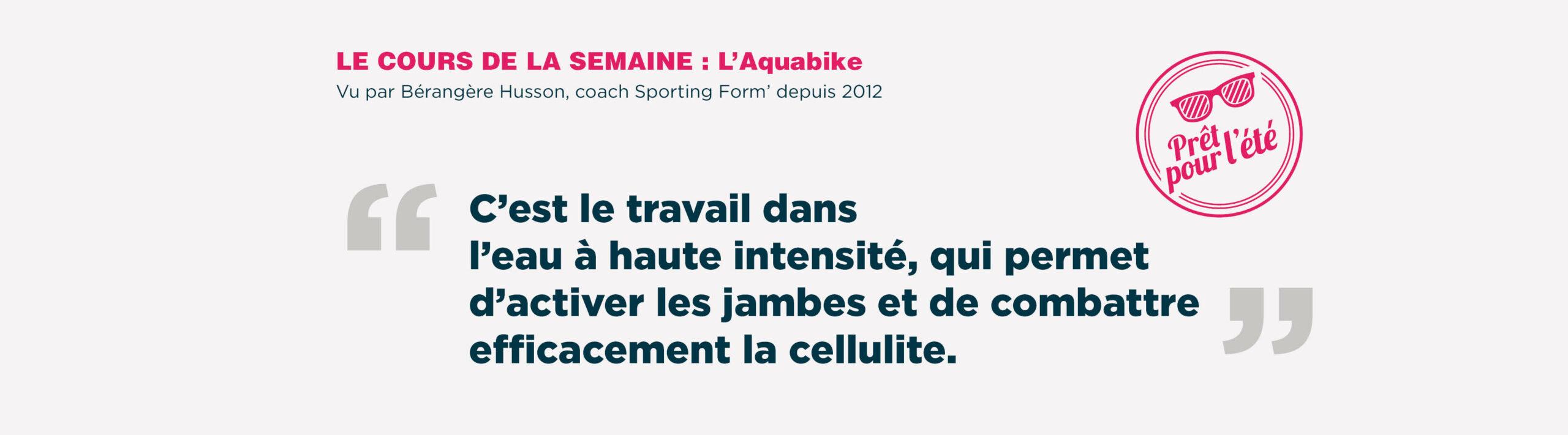 Cours Aquabike - Sporting Form'